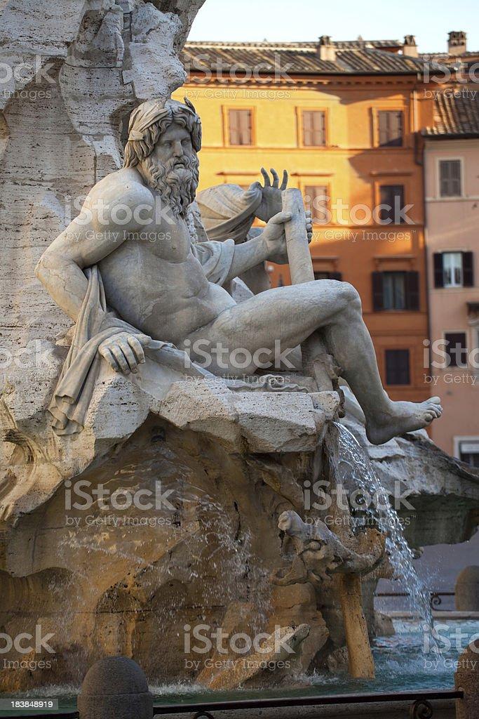 Piazza Navona, Rome stock photo