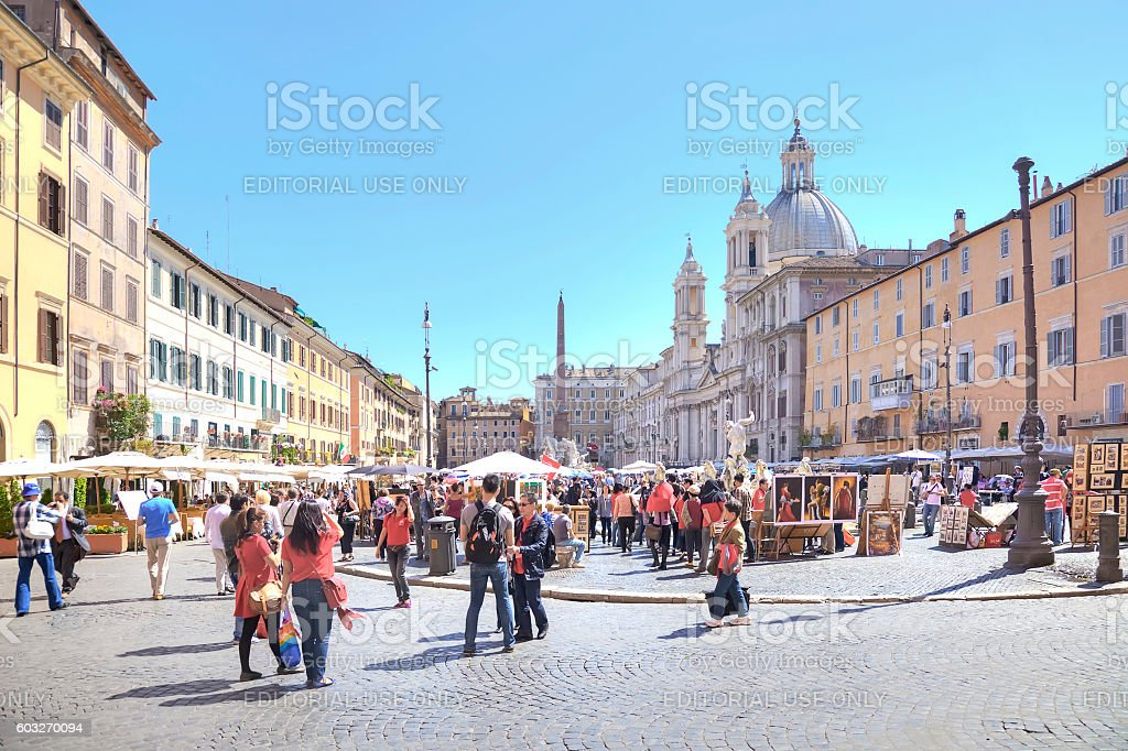 Piazza Navona. Rome stock photo