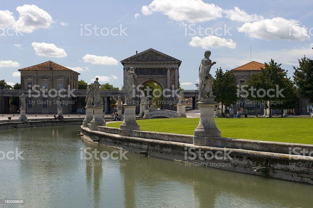 Piazza Prato della Valle royalty-free stock photo