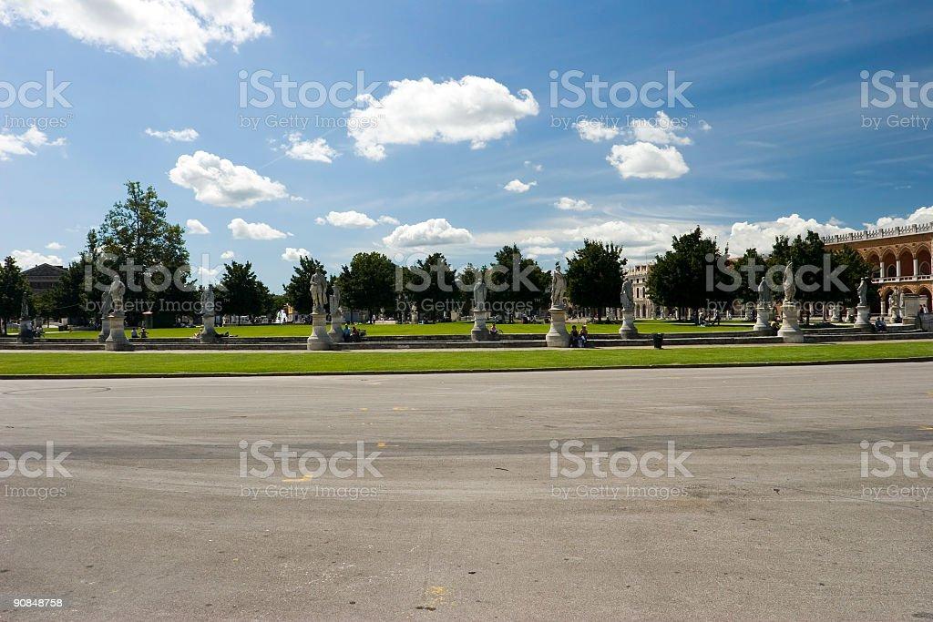 Piazza Prato della Valle stock photo