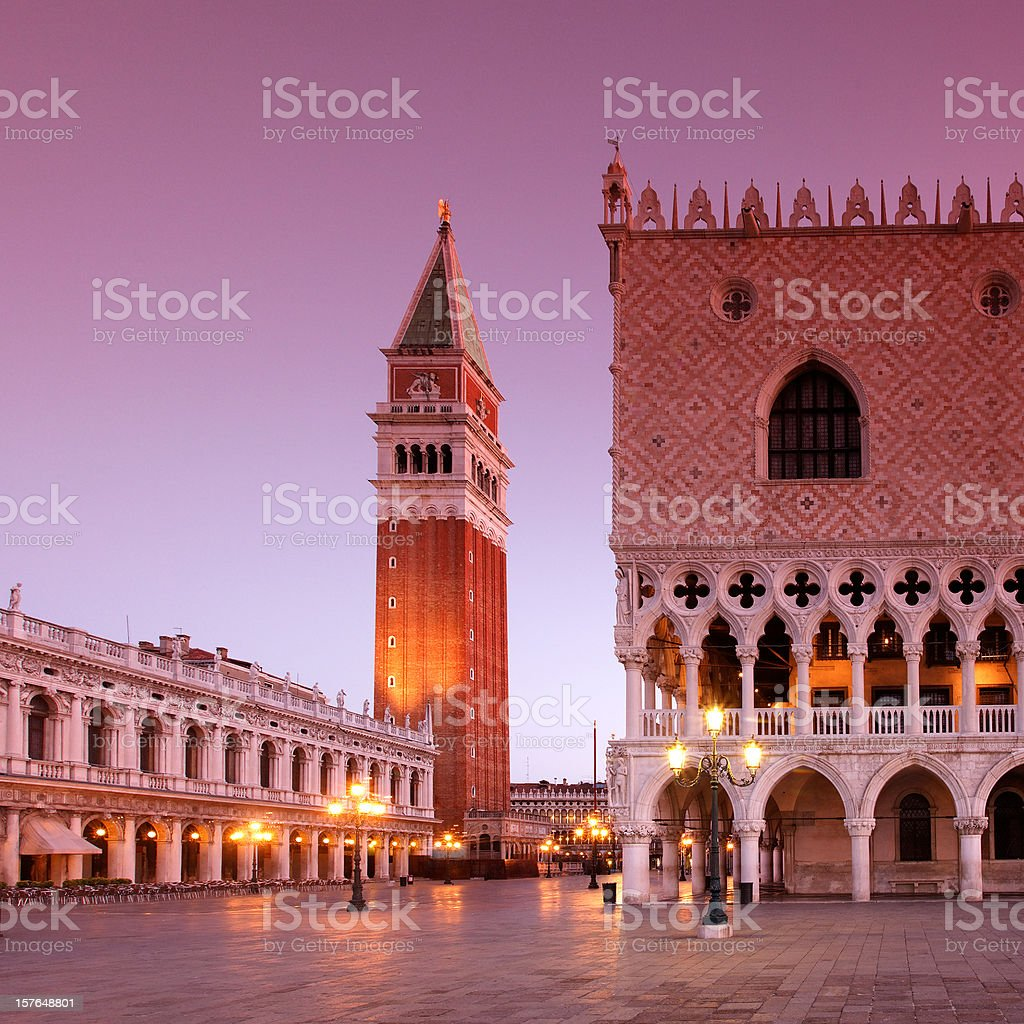 Piazza San Marco at Dawn stock photo