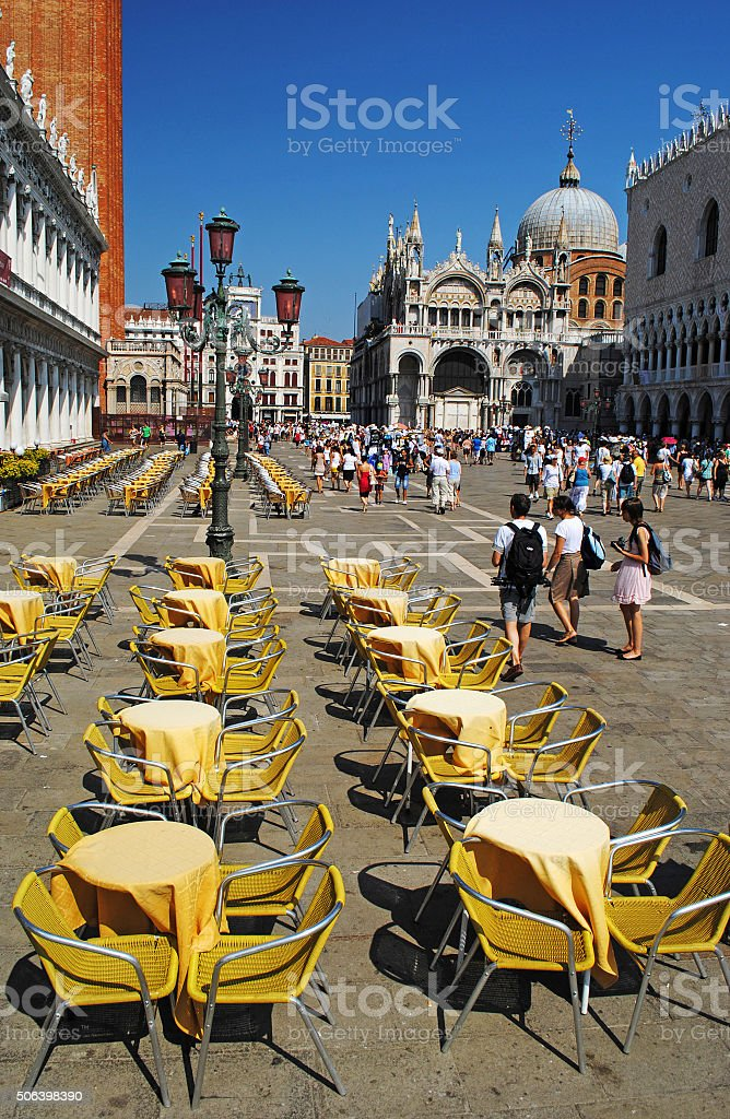 Piazza San Marco   in Venice stock photo