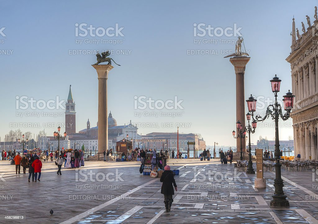 Piazza San Marco on December 11, 2012 in Venice royalty-free stock photo