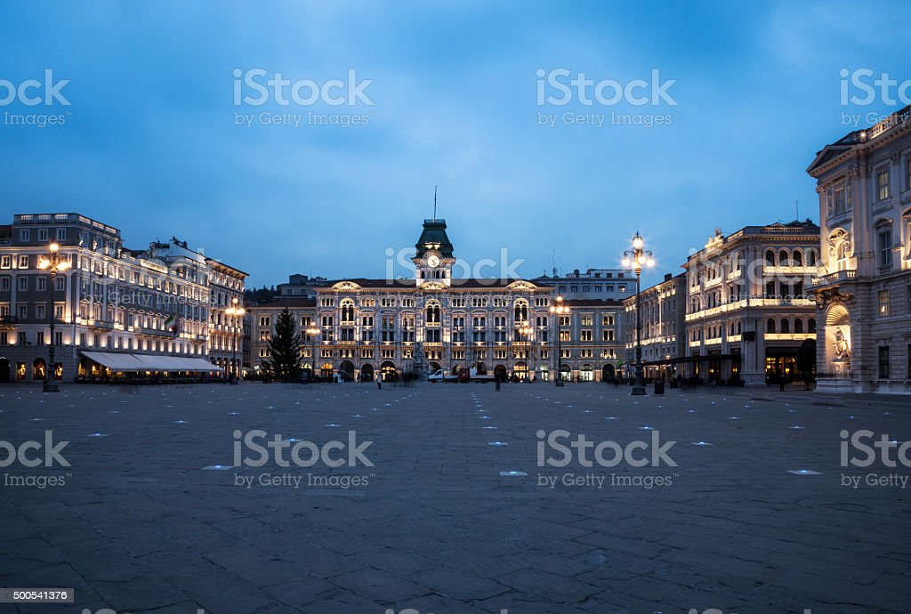 piazza unità d'italia, trieste stock photo