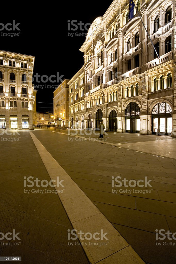 Piazza Unit? a Trieste royalty-free stock photo