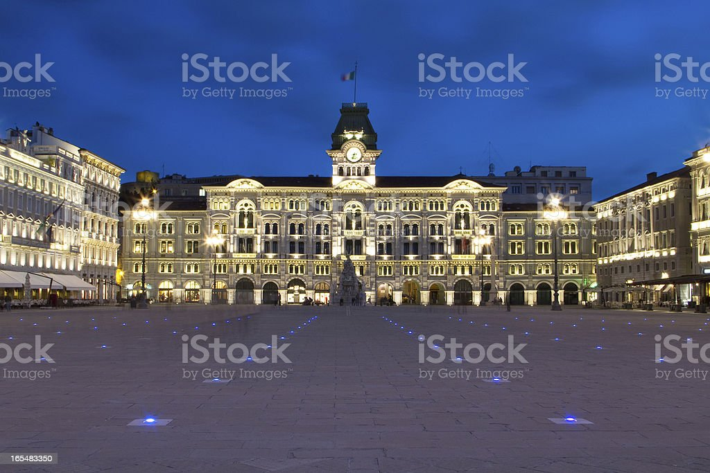 Piazza Unita, Trieste royalty-free stock photo