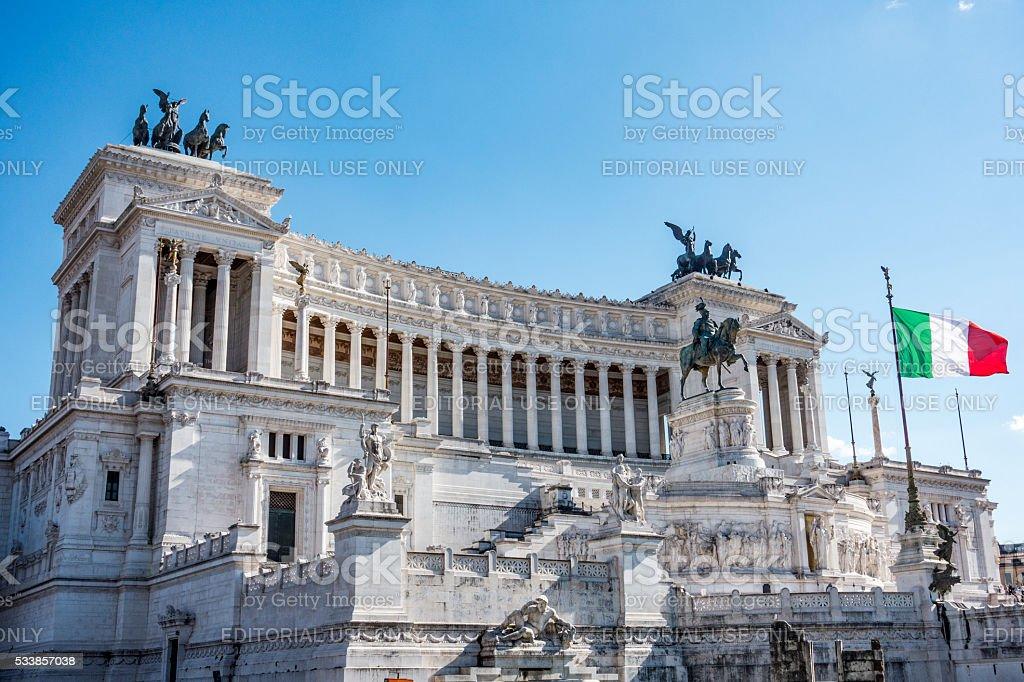 Piazza Venezia, Rome stock photo