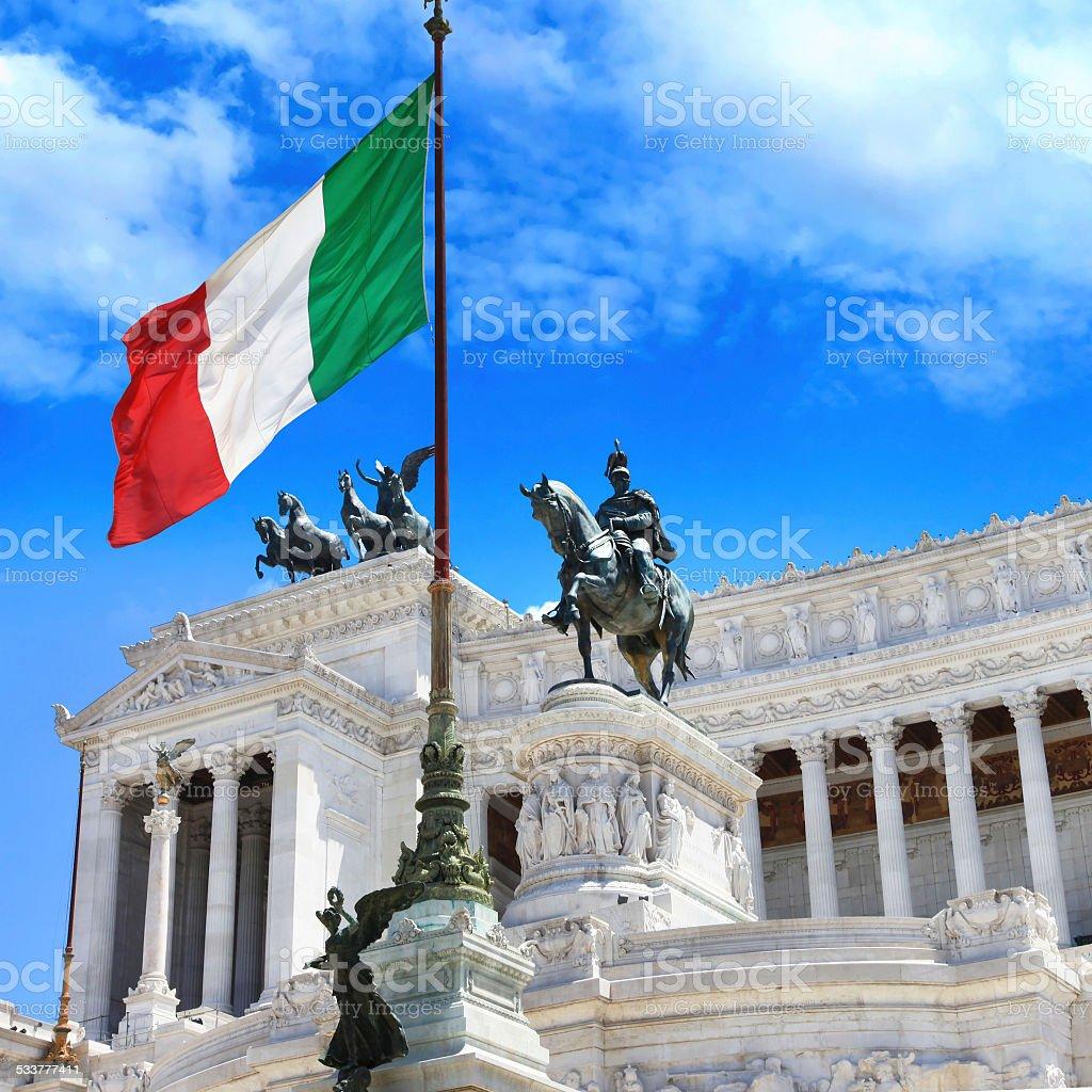 Piazza Venezia,Rome. stock photo