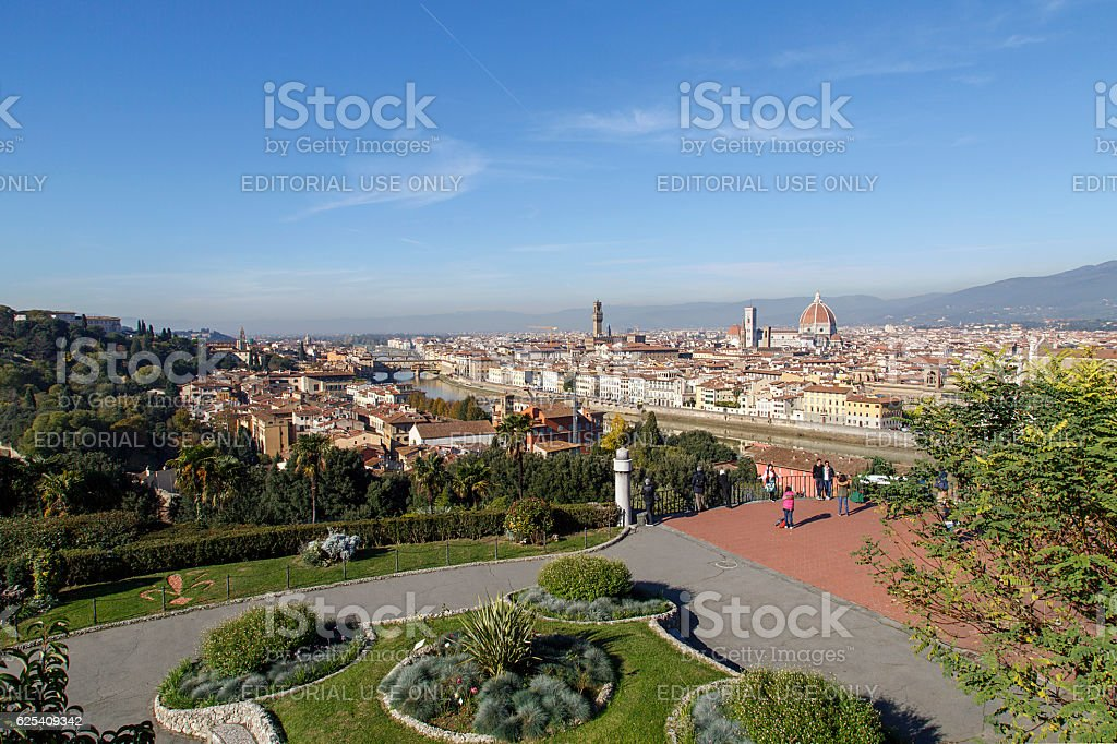 Piazzale Michelangelo - Florence stock photo
