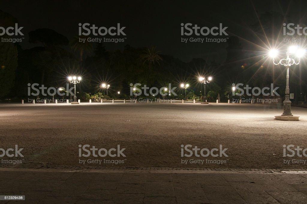 Piazzale Pincio night stock photo