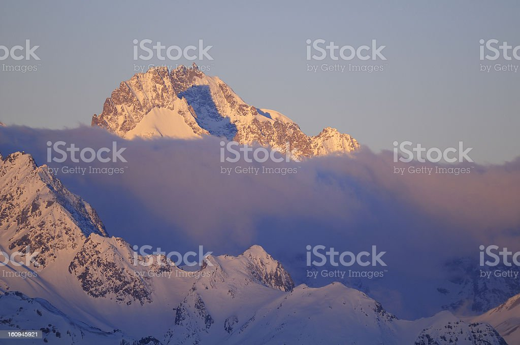 Pic Gaspard (3,883 m) , Ecrins, France royalty-free stock photo