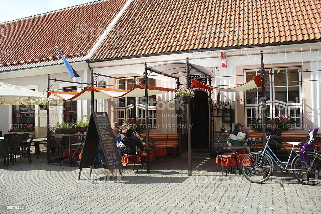 Picadilly cafe in Parnu stock photo