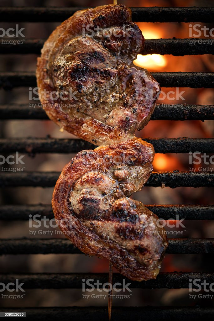 Picanha Brazilian meat cut stock photo