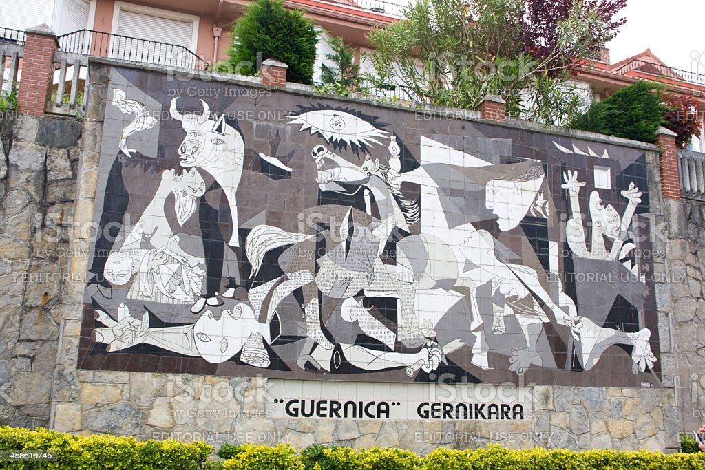 Picasso Guernica Depiciton stock photo
