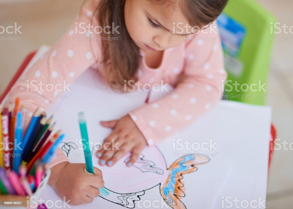 Picasso in training stock photo