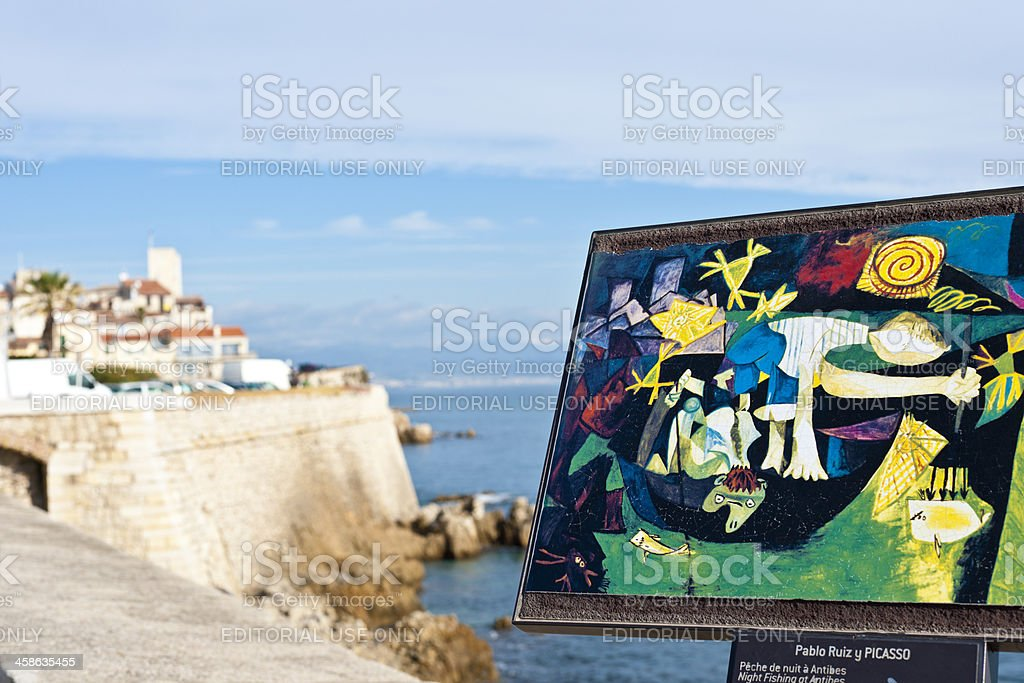 Picasso Painting at Antibes stock photo