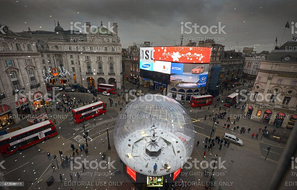 Piccadilly Circus at Christmas stock photo