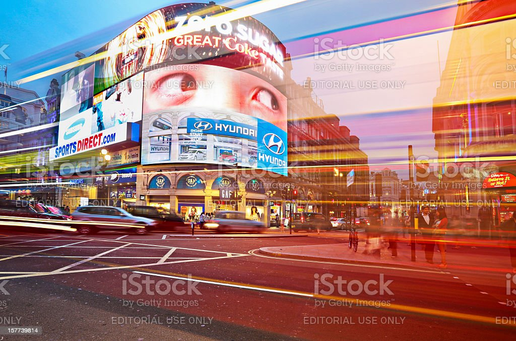 Piccadilly Circus at dusk royalty-free stock photo