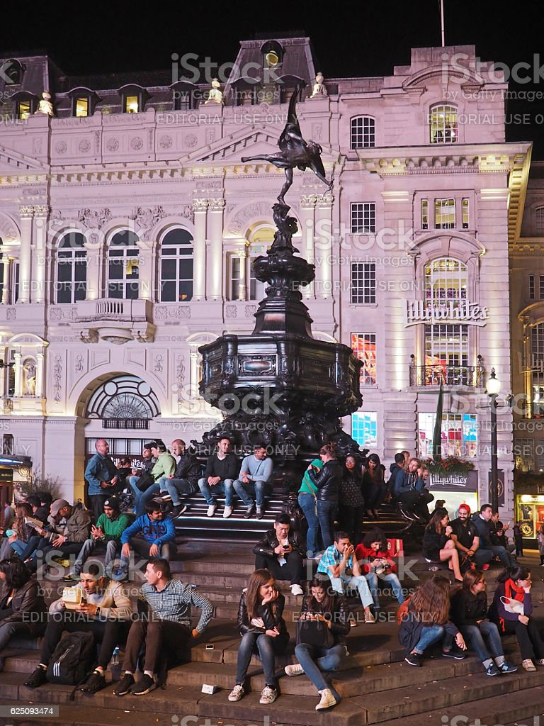 Piccadilly Circus at night stock photo