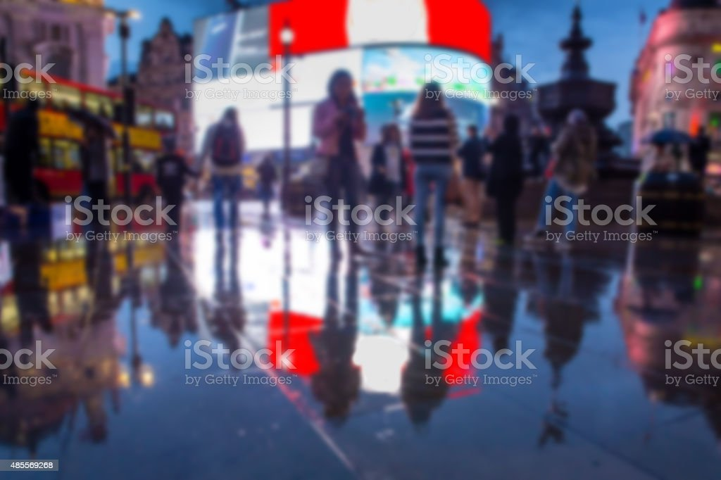 Piccadilly Circus Blur stock photo