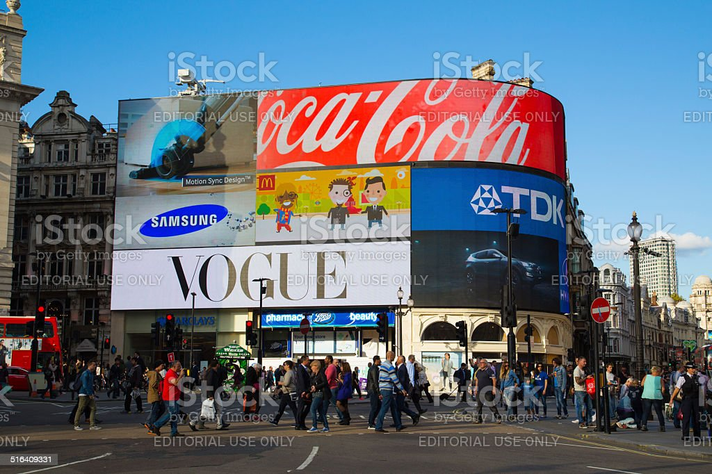 Piccadilly Circus during the day stock photo