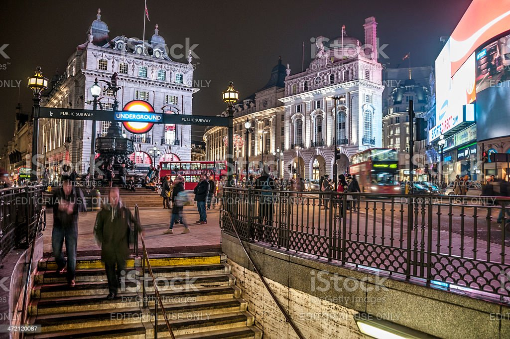 Piccadilly Circus In London, England stock photo