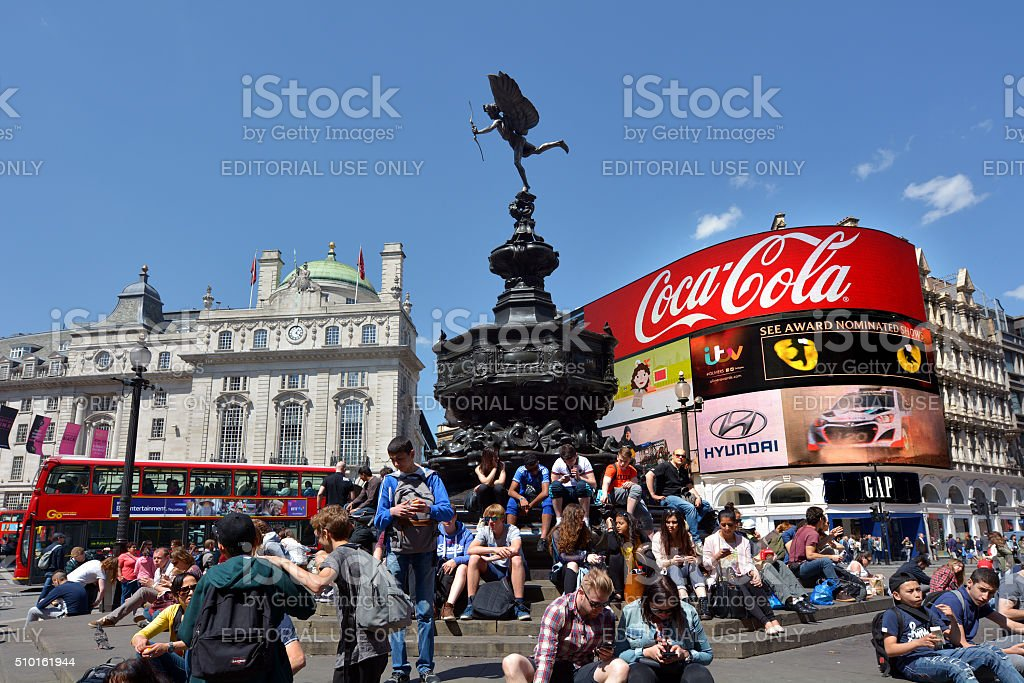 Piccadilly Circus London - England United Kingdom stock photo