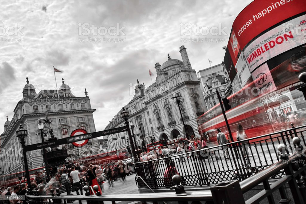 Piccadilly Circus London Long Exposure stock photo
