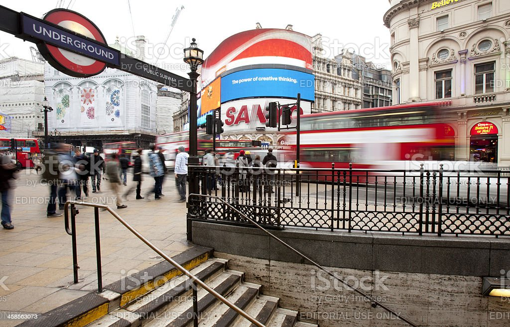 Piccadilly Circus, London. royalty-free stock photo