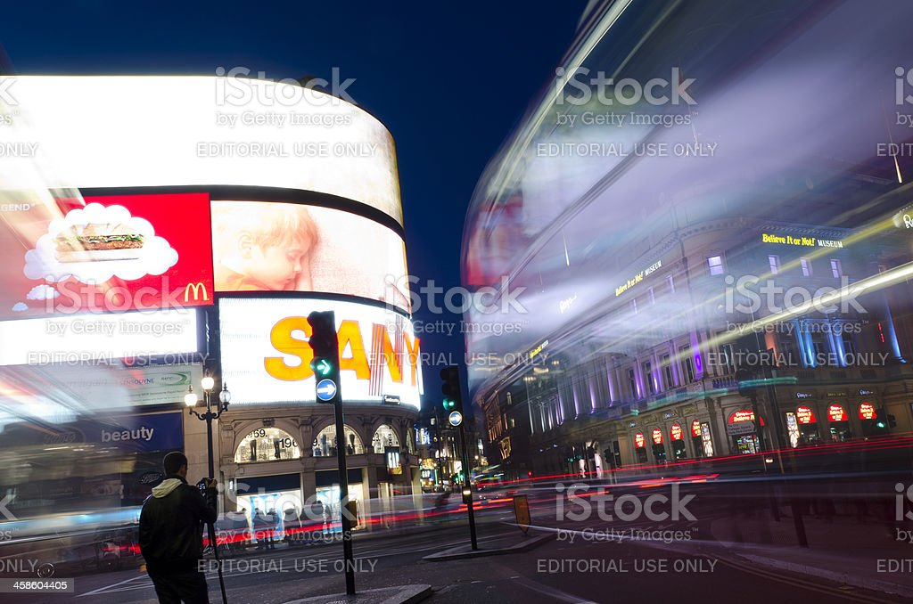 Piccadilly Circus London royalty-free stock photo