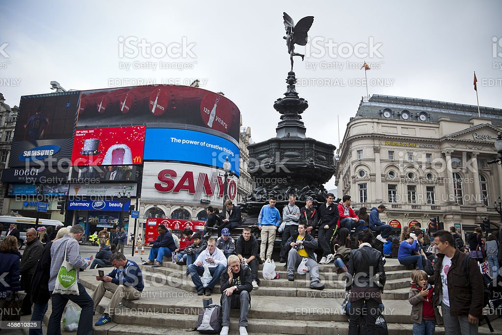 Piccadilly Circus, London stock photo