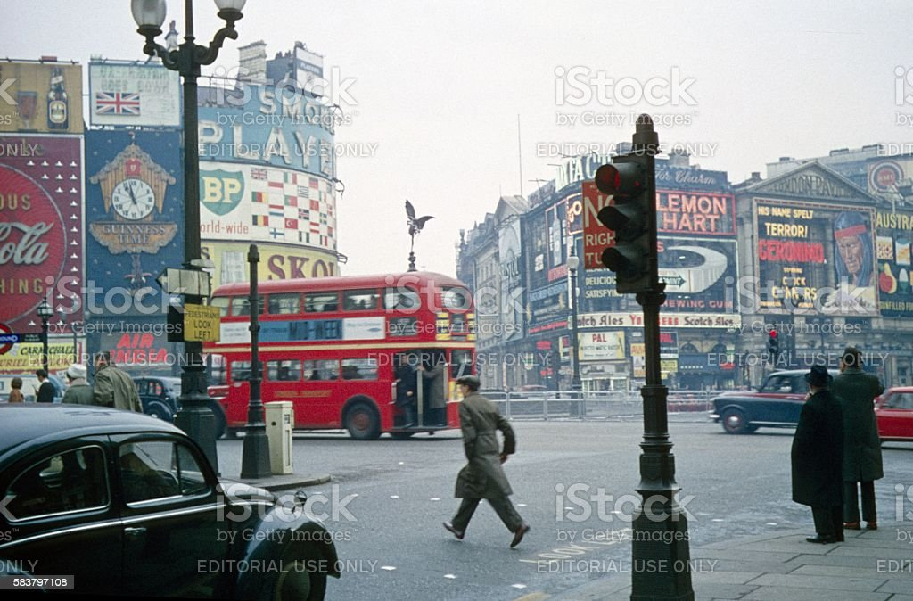 Piccadilly Circus, London, UK, 1963 stock photo