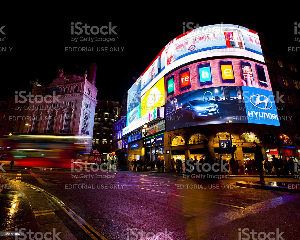 Piccadilly Circus stock photo