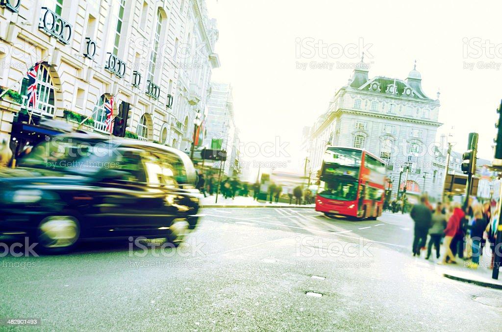 Piccadilly Circus, Regent Sreet, London, UK stock photo