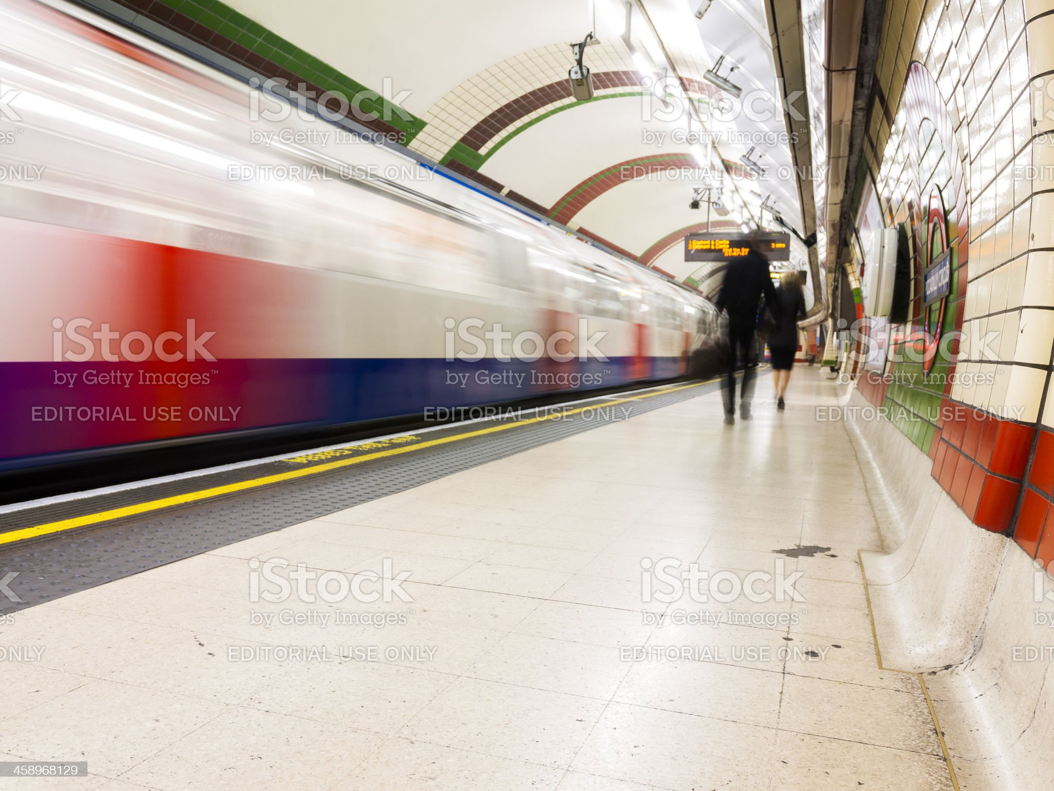 Piccadilly Circus underground tube station, London royalty-free stock photo