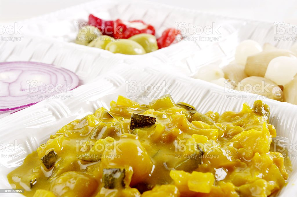 Piccalilli In Dish royalty-free stock photo
