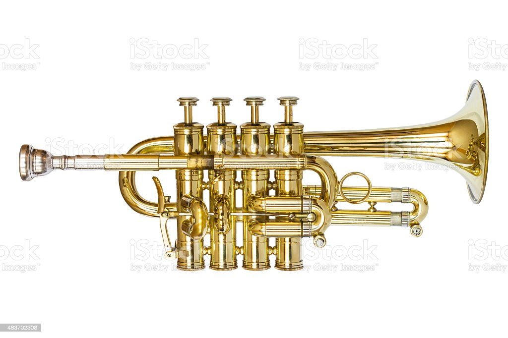 Piccolo Trumpet stock photo