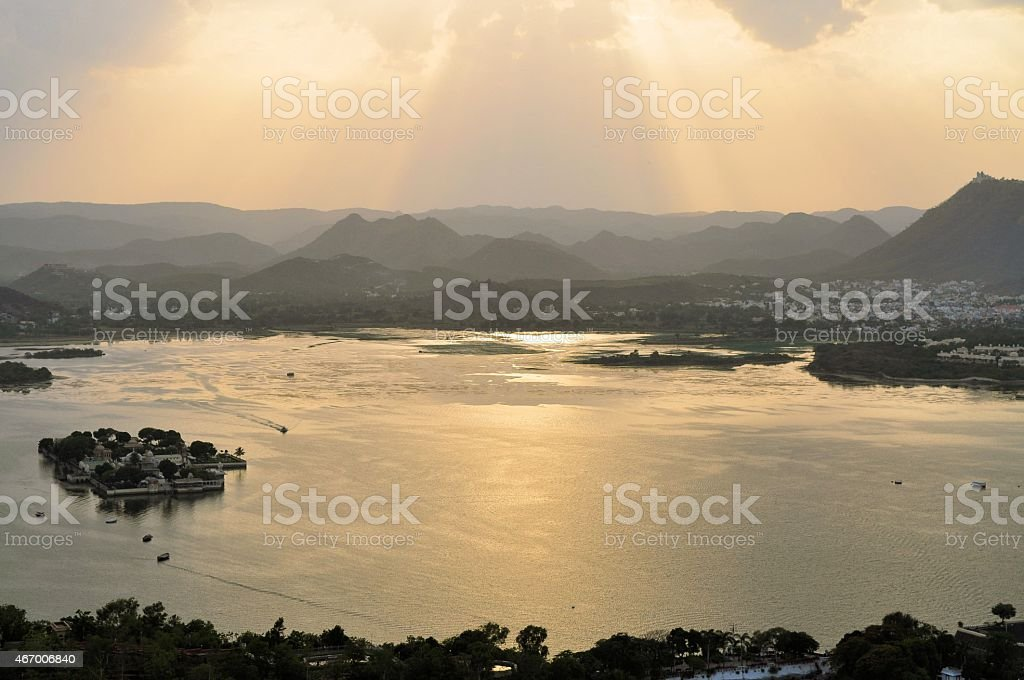 Pichola Lake, Udaipur, Rajasthan, India stock photo
