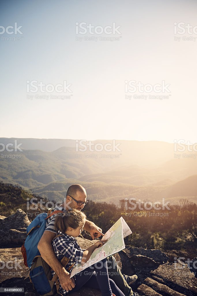 Pick a spot and we'll go there stock photo