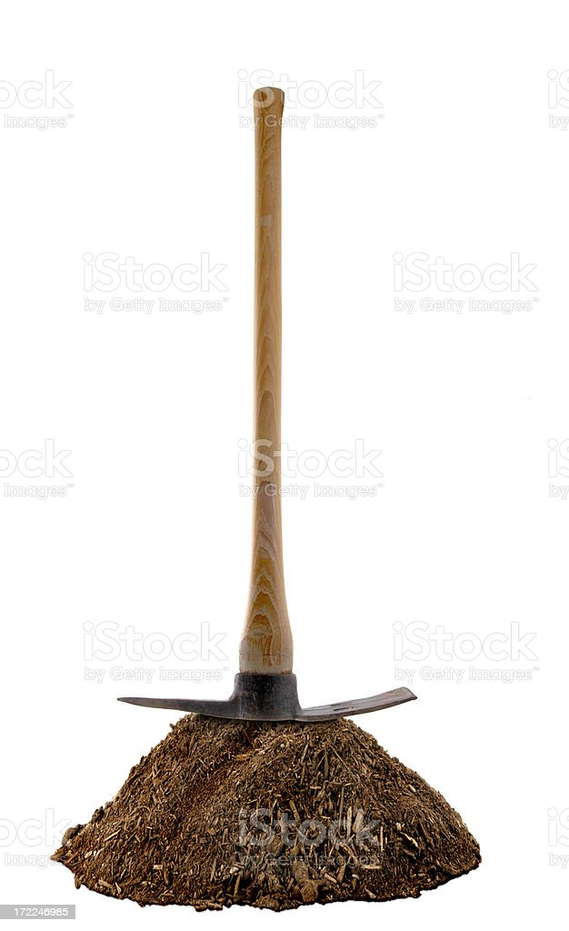 Pick and Dirt royalty-free stock photo