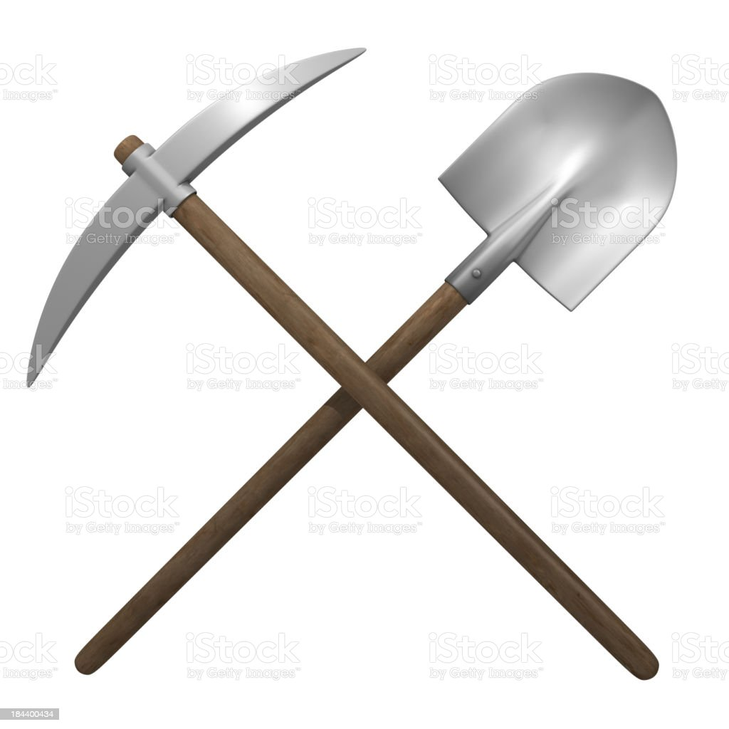 Pick and shovel royalty-free stock photo