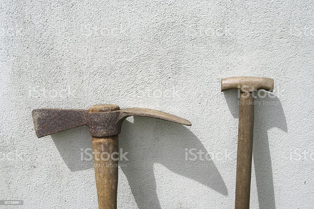 Pick And Shovel stock photo