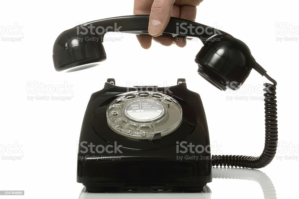 Pick up the phone. stock photo