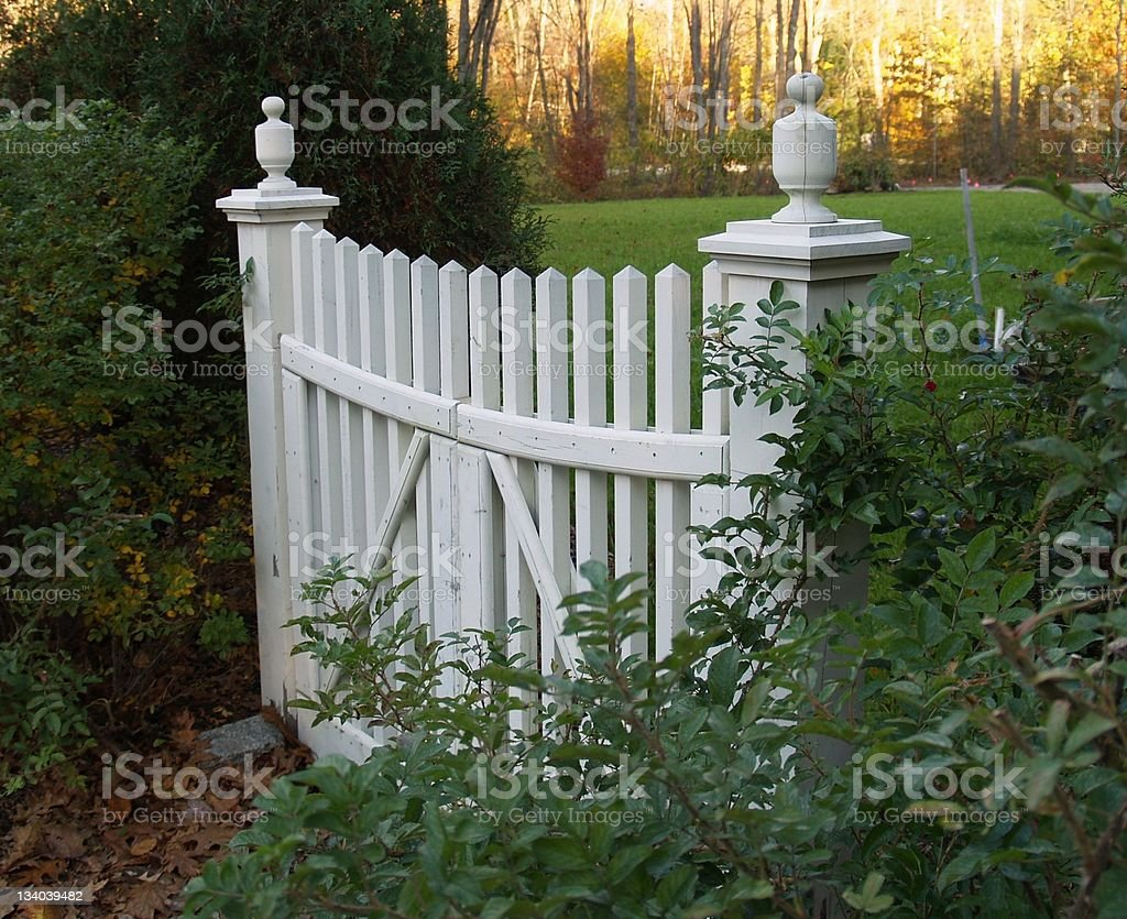 Picket Fence Gate royalty-free stock photo