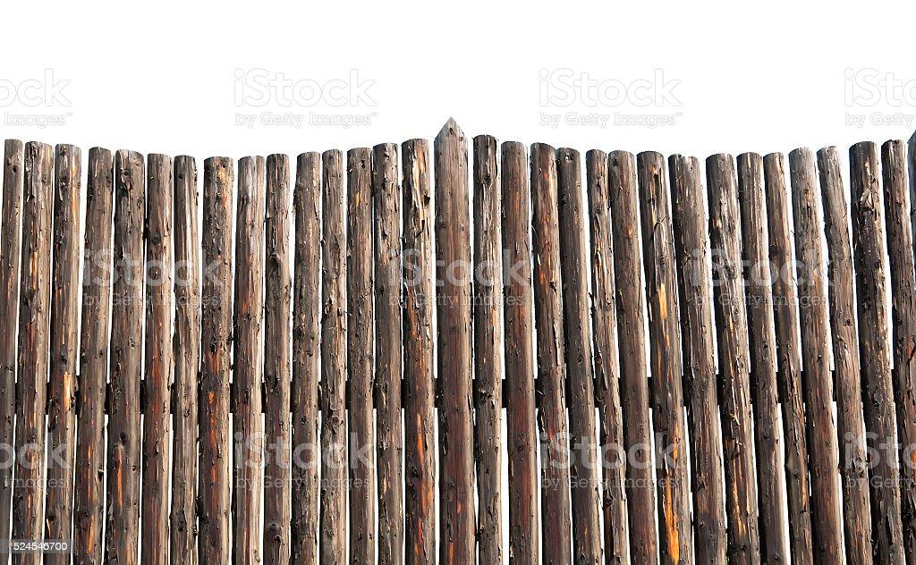 picket fence isolated stock photo