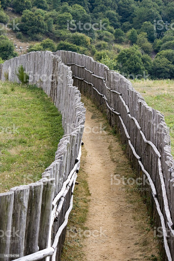 Picket Fence Path royalty-free stock photo