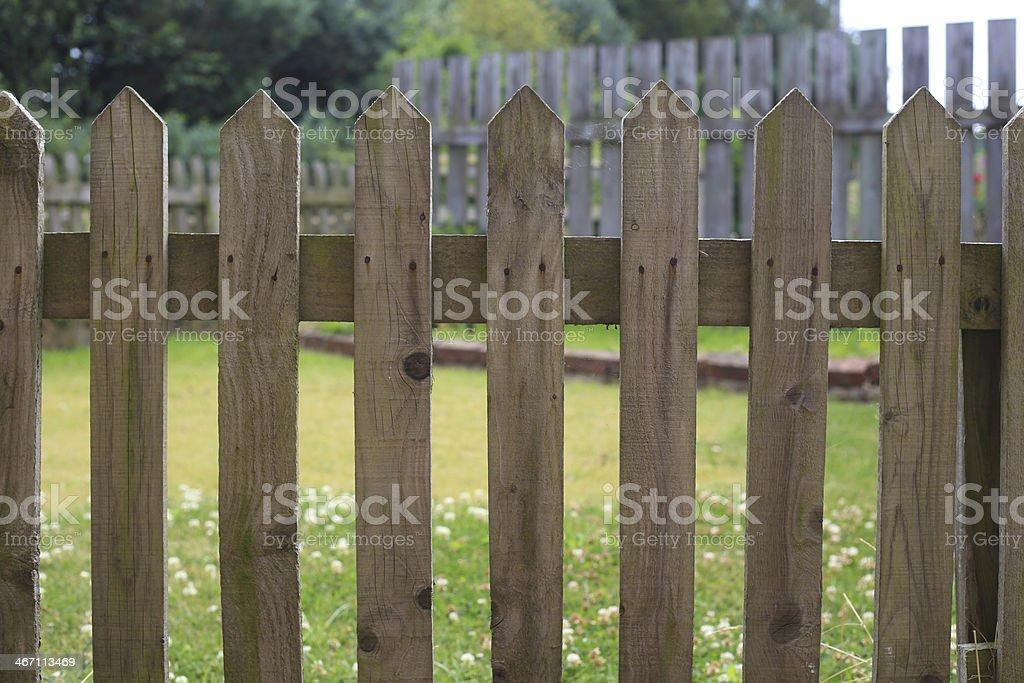 Valla de piquete foto de stock libre de derechos