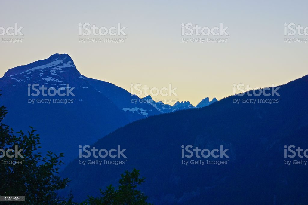 Picket Range Dusk stock photo