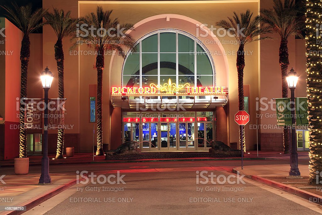 Pickford Movie Theatre Cathedral City royalty-free stock photo