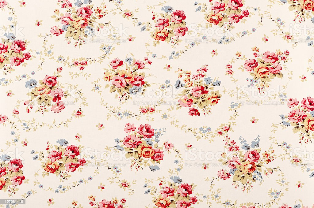 Pickford Swag Medium Antique Floral Fabric royalty-free stock photo